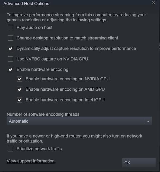 advanced host options
